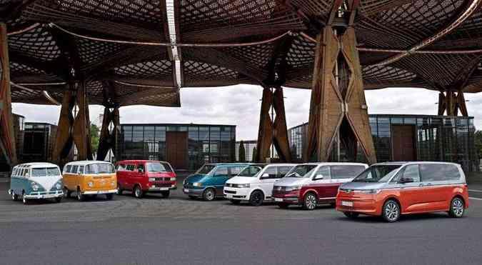 Todas as gerações da Kombi(foto: Volkswagen/Divulgação)