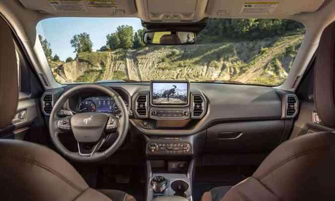 Painel do Bronco Sport é como o de qualquer automóvel da Ford(foto: Ford/Divulgação)
