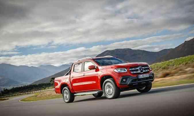 Modelo da marca alemã usa a mesma plataforma da Nissan Frontier e da Renault Alaskan(foto: Mercedes-Benz/Divulgação)