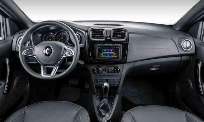 Interior do Sandero permanece o mesmo(foto: Renault/Divulgação)