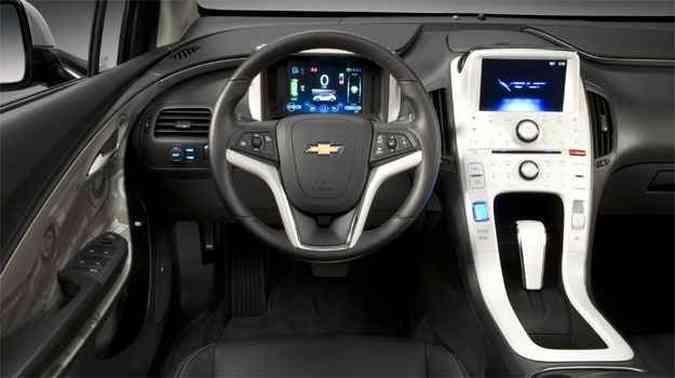Console agrupa a maioria dos comandos sensíveis ao toque e duas telas de LCD informam a propulsão(foto: Chevrolet/Divulgação)