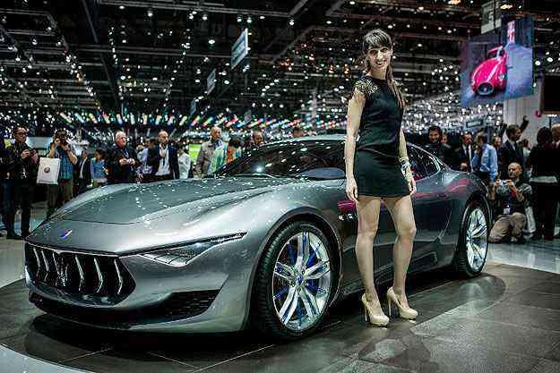 Maserati apresenta o Alfieri Concept na Suíça. Clique e veja fotos do evento! - AFP PHOTO / PIERRE ALBOUY