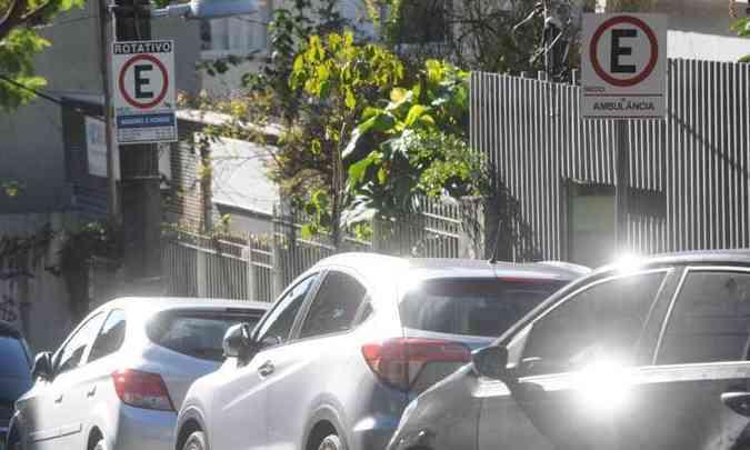 Mudança em regras para vagas exclusivas para deficientes afetou outras infrações (foto: Leandro Couri/EM/D.A Press)
